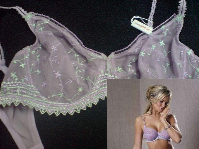 38e young attitude lavender lace underwired bra brand new with original tag