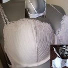 32b ex marks & specer white padded balcony bra new with original sales display card