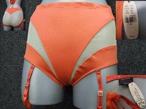 victoria's secret orange tummy control panty size large new with original tag