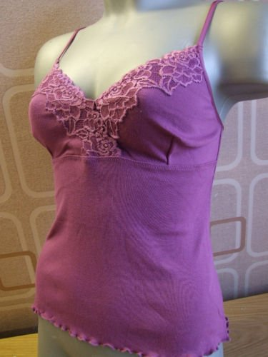 ex kew cotton&lace hyacinth shaped vest 12/14 M BN