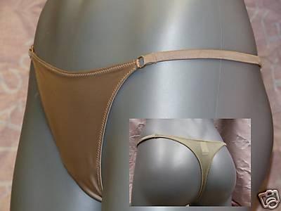 gossard superboost cappuchino satin thong m 12/14 bnwt