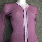 ex junior jigsaw plum themal cardigan age 2/3 small