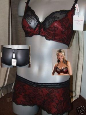 34d young attitude black red lace underwired  bra BNWT
