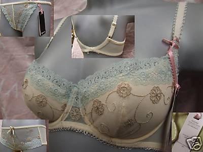 32b Gossard cream lace Fleurie Padded Balcony Bra BNWT