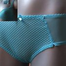size 8 ex m&s turquoise body style short knickers bnwt