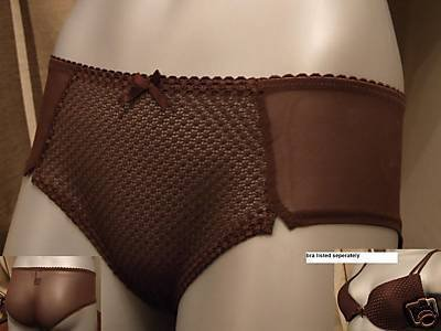 size 8 ex m&s brown body style short knickers bnwt