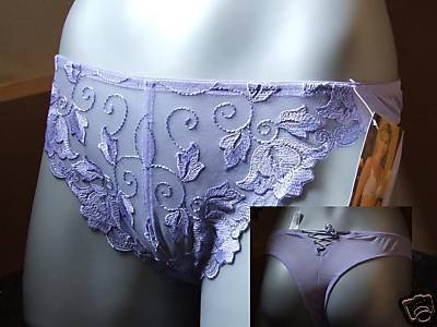ballet lavender embroidery lace thong size 16 to 18 bnw