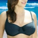 36f plain black underwired bikini top ex brand BNWT