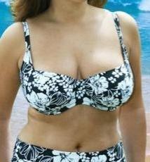 34gg floral black underwired bikini top ex brand BNWT