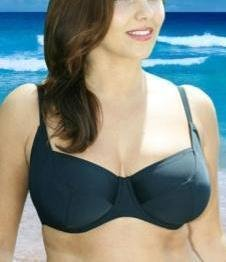32e plain black underwired bikini top ex brand BNWT