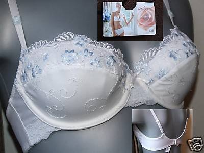 32b ex m&s adored comfort white padded balcony bra BN