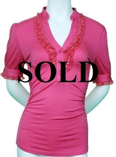 XLarge Size Pink Ruffle Top