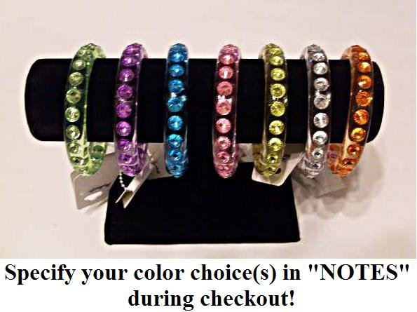 Beautiful Gemstone Bangle or Bracelet, specify your color(s) during checkout