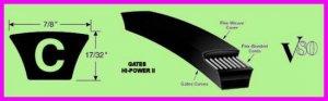 ** Gates Hi-Power II C107 V-Belt C 107 Industrial / Automotive 90042107 NEW **
