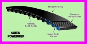 ** Gates PowerGrip Timing Belt 124MXL019 / 92570264 / 9257-0264 MXL NEW  **
