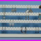 ** White Solid Wood Earring 148 Piece 4 Tier Jewelry Earring Rack Display NEW **