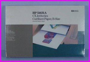 ** HP 51631A CX JetSeries PaintJet B-Size 11x17 Cut Sheet Paper 200 Pages NEW **