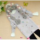[W0052] Cute Furly Dots Jumper/Sweater - Light Grey 最新款式超可爱点点洋裙--浅灰色