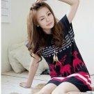 [W0045] Gorgeous Spring Tunic Dress - Pink 可爱春款兔毛绒连身裙--玫红色