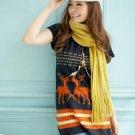 [W0040]Gorgeous Spring Tunic Dress - Orange 可爱春款兔毛绒连身裙--橙色