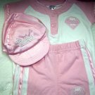 Phillies Pink Short Set with matching Phillies Baseball Cap (HC19)