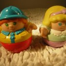Set of Two 1987 Weeblos Playskool Original Family Replacement People