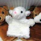 Three Hand Puppets BEAR DOG LAMB (HC20)