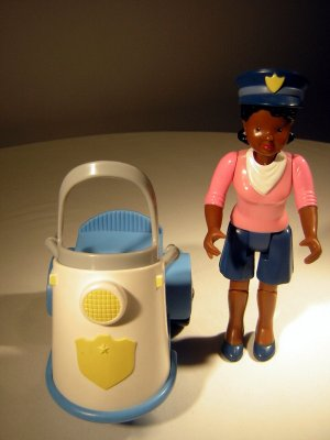 Fisher Price Vintage Loving Family Police Woman with Scooter (HC10)