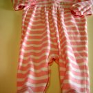 Ralph Lauren Pink Stripped Long Sleeved  Footed Outfit Size 9 Months (HC26)