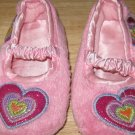 Children's Place Pink Slip On Heart Slippers