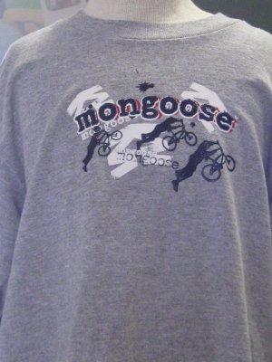 Mongoose Short Sleeve Tee Shirt  Front & Back Logo & Bike Tricksters