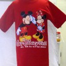 Mickey Inc Walt Disney World Souvenir Mickey and Minnie T- Shirt