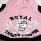 Simply She Simply Dog Pink Royal Fashion Hoodie Sweatshirt XSmall 2008 (HC13)