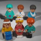 Little Figures Hospital Workers Doctor Nurse Patient Lot (HC07)
