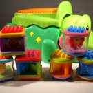 Fisher Price Mattel Stackable Peek a Blocks Alligator 2006