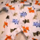Carter's One Piece Preemie Boys Snap Sleeper Assorted Dogs Print (HC19)