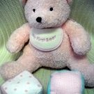 My First Teddy Bear Pink Super Soft with Jingle Blocks (HC28)