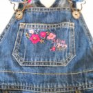 Osh Kosh Denim Overalls Adjustable Straps Size 12 Months (HC26)