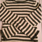 The Children's Place Green Sparkle Stripped Ribbed T-Neck Size 7/8 (HC26)