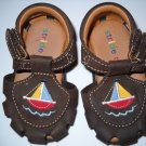 Stride Rite Toddler Brown Sandal with Sailboat Size2M (HC27)