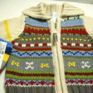 The Children's Place Knit Zip Up Sweater with Matching Mittens Boys 0-3 Months (HC25)