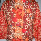 Three-Quarter Sleeve Guitar Orange Pattern Print Girls Top Size 7/8 by Thalia & Sodi (HC19)