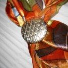 Gold Tone Scarf Clip Jewelry (HC44)