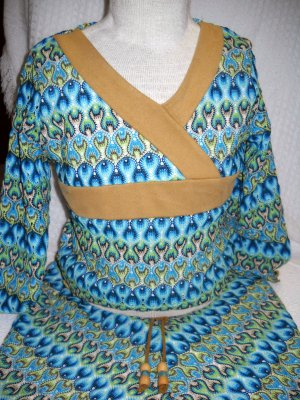 Girls Lined Skirt and Top Set Size M by My Michelle (HC)