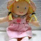 Carters Soft Baby Doll Caucasian Girl with Pigtails (HC13)