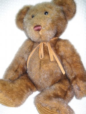 Minky Teddy Bear Plush Brown By First Main (HC15)