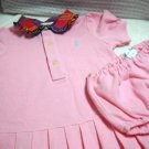 Ralph Lauren ® 100% Cotton Infant Dress with Diaper Cover 9 Months (HC19)