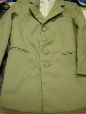 Retro Sage Green Boys Suit Size 4 (TFL)