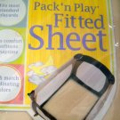 "Graco ""Fitted Sheet"" Replacement Pack n Play Sheet Cover NWT ~Beige/Tan (HC24)"
