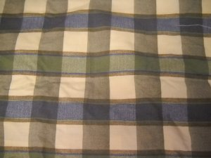 "Graco ""Sage Green Tan Blue Plaid"" Replacement Pack n Play Sheet Cover (HC23)"